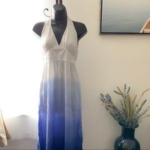 Tommy Bahama summer beach dress blue white medium